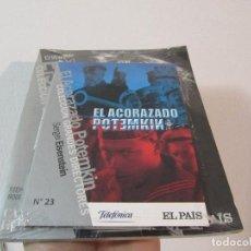 Cine: DVD + LIBRO - SERGEI EINSENSTEIN - EL ACORAZADO POTEMKIN PRECINTADO. Lote 253896380