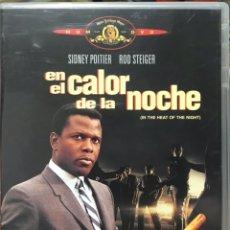 Cine: DVD EN EL CALOR DE LA NOCHE - SIDNEY POITIER ROD STEIGER - IN THE HEAD OF THE NIGHT - CRIMEN RACISMO. Lote 254585310