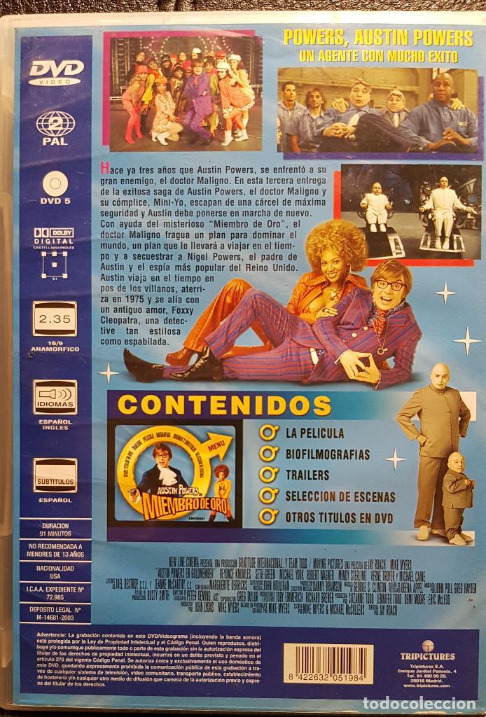 Cine: AUSTIN POWERS EN MIEMBRO DE ORO - DVD - MIKE MYERS - BEYONCE KNOWLES - NO USO CORREOS - Foto 2 - 254626510