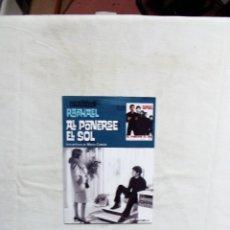 Cine: DVD - AL PONERSE EL SOL COLECCION RATHAEL ( SOBRE DE CARTON ). Lote 255566560