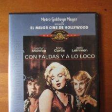Cine: CON FALDAS Y A LO LOCO (DVD SLIM). Lote 255666310