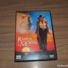 Cine: RAPIDA I MORTAL DVD SHARON STONE GENE HACKMAN CATALAN E INGLES COMO NUEVA. Lote 257415170