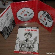 Cine: EL GRAN DICTADOR EDICION ESPECIAL WARNER 2 DVD CHARLES CHAPLIN WARNER DISCOS COMO NUEVOS. Lote 257416270