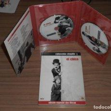 Cine: EL CHICO EDICION ESPECIAL WARNER 2 DVD CHARLES CHAPLIN WARNER DISCOS COMO NUEVOS. Lote 257416690