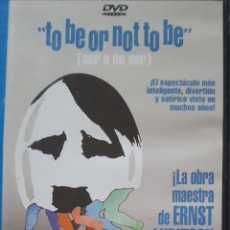 Cine: DVD / TO BE OR NOT TO BE - ERNST LUBITSCH, 1942. Lote 257722635