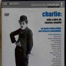 Cine: CHARLES CHAPLIN, CHARLIE VIDA Y OBRA. DOCUMENTAL NARRADO POR SYDNEY POLLACK. DVD. Lote 257808760