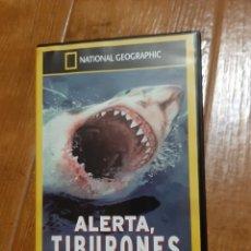 Cine: DVD ALERTA, TIBURONES (NATIONAL GEOGRAPHIC). Lote 257887820