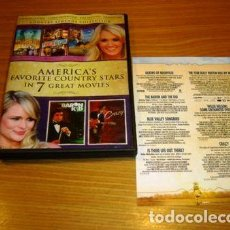Cine: WILLIE NELSON JOHNNY CASH DOLLY PARTON DVD COUNTRY 7 FILMS. Lote 259164195