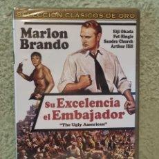 Cine: SU EXCELENCIA EL EMBAJADOR **DE GEORGE ENGLUND CON MARLON BRANDO ** NUEVA PRECINTADA ** ED. ESPECIAL. Lote 260077985