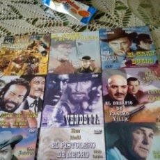 Cine: 9 DVD DE PISTOLEROS SIN ESTRENAR. Lote 260915320