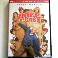 Cine: DOCE EN CASA DVD PELÍCULA COMEDIA STEVE MARTIN FAMILIA NUMEROSA HERMANOS - BONNIE HUNT SIMONDS DUFF. Lote 261244485