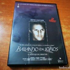 Cine: BAILANDO CON LOBOS 2 DVD DEL AÑO 2001 ESPAÑA KEVIN COSTNER MARY MCDONNELL GRAHAM GREENE DOBLE DVD. Lote 261262915