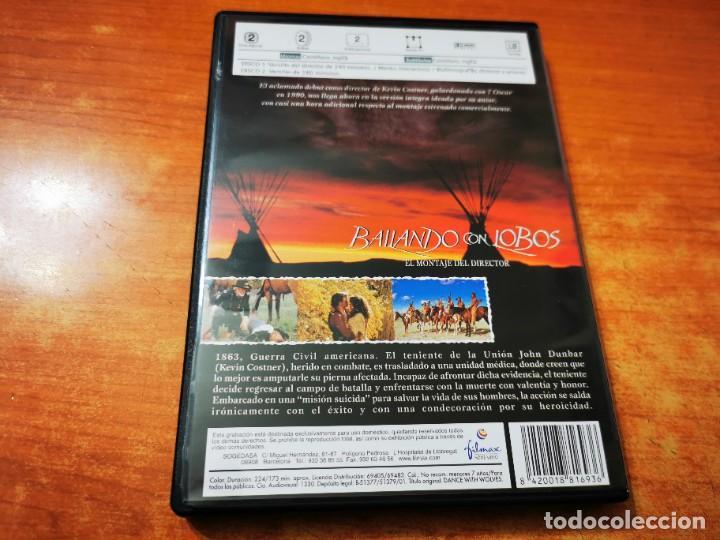 Cine: BAILANDO CON LOBOS 2 DVD DEL AÑO 2001 ESPAÑA KEVIN COSTNER MARY McDONNELL GRAHAM GREENE DOBLE DVD - Foto 3 - 261262915