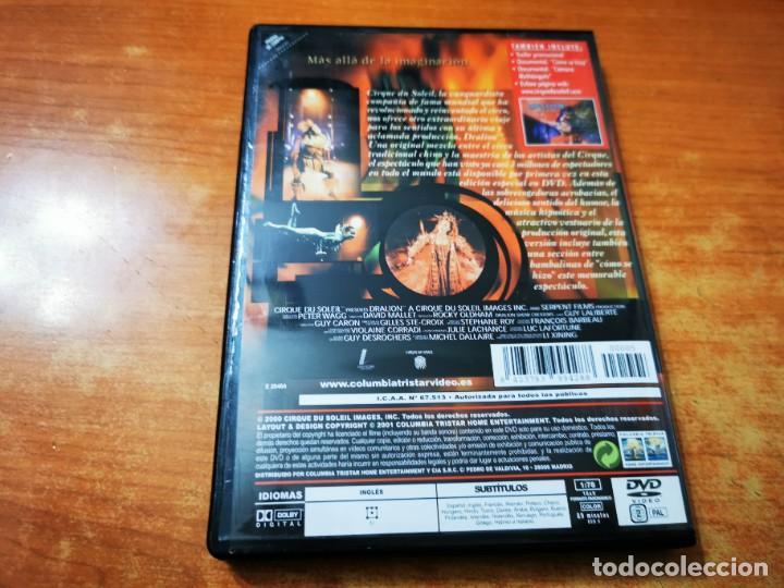 Cine: CIRQUE DU SOLEIL PRESENTA DRALION DVD DEL AÑO 2000 ESPAÑA MUY RARO - Foto 3 - 261264600