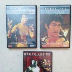 Cine: LOTE DE 3 PELÍCULAS DVD DE BRUCE LEE. Lote 261869030