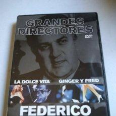 Cine: FEDERICO FELLINI: LA DOLCE VITA/ GINGER Y FRED. DVD GRANDES DIRECTORES.. Lote 261916660