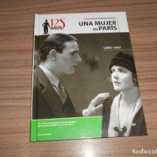 Cine: UNA MUJER DE PARIS EDICION ESPECIAL DVD + LIBRO 46 PAG. CHARLES CHAPLIN COMO NUEVA. Lote 262184895