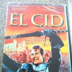 Cinema: DVD -- EL CID -- CHARLTON HESTON Y SOFIA LOREN -- NUEVA PRECINTADA --. Lote 262302945