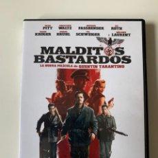 Cine: MALDITOS BASTARDOS - QUENTIN TARANTINO - BRAD PITT. Lote 262368360