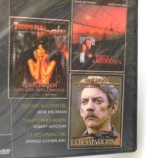 Cine: DVD PELÍCULAS TESTIGO ACCIDENTAL - TIEMPO PARA MORIR - LA DESAPARICIÓN PRECINTADO SUSPENSE R MITCHUM. Lote 262440415