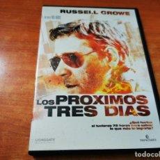 Cine: LOS PROXIMOS TRES DIAS DVD DEL AÑO 2010 ESPAÑA RUSSELL CROWE ELIZABETH BANKS BRIAN DENNEHY. Lote 262465010