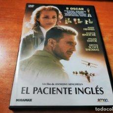 Cine: EL PACIENTE INGLES DVD DEL AÑO 2011 ESPAÑA RALP FIENNES JULIETTE BINOCHE WILLIEN DAFOE. Lote 262468860