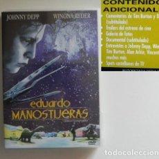 Cine: EDUARDO MANOSTIJERAS DVD PELÍCULA DRAMA JOHNNY DEPP WINONA RYDER TIM BURTOM PRICE ODIO AL DIFERENTE. Lote 262680800