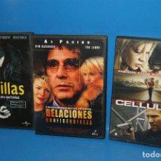 Cine: LOTE 3 DVDS ESPECIAL KIM BASINGER-CELLULAR-8 MILLAS-RELACIONES SENTIMENTALES. Lote 262826645