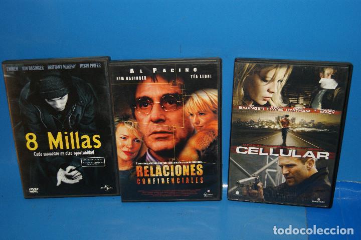 Cine: Lote 3 dvds ESPECIAL KIM BASINGER-CELLULAR-8 MILLAS-RELACIONES SENTIMENTALES - Foto 2 - 262826645