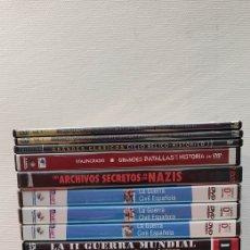 Cine: LOTE DVD BÉLICO, HISTÓRICO GUERRA CIVIL ESPAÑOLA, GUERRA MUNDIAL II Y I, AVIONES DE COMBATE NAZIS.... Lote 262883020