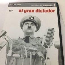 Cine: EL GRAN DICTADOR COLECCIÓN CHARLES CHAPLIN CAJA FINA. Lote 262974670