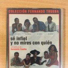 Cine: DVD CINE DE FERNANDO TRUEBA - SÉ INFIEL Y NO MIRES CON QUIÉN (1985), CON ANA BELÉN. Lote 263039665