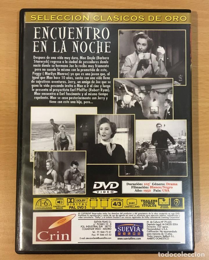 Cine: DVD CINE DE FRITZ LANG - ENCUENTRO EN LA NOCHE / CLASH BY NIGHT (1952), CON MARILYN MONROE - Foto 3 - 263039905