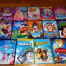 Cine: LOTE 14 DVD PELICULAS INFANTILES -PETER PAN-MADAGASCAR-BARBIE-DORAEMON-MICKEY -WALT DISNEY. Lote 263093865