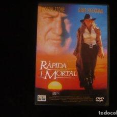 Cine: RAPIDA I MORTAL - IDIOMAS: CATALAN Y INGLES - DVD COMO NUEVO. Lote 263185375