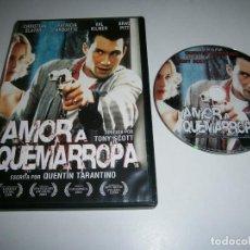 Cine: AMOR A QUEMARROPA DVD CHRISTIAN SLATER PATRICIA ARQUETTE VAL KILMER BRAD PITT QUENTIN TARANTINO. Lote 263211205