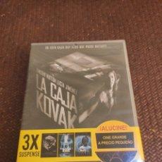Cine: LOTE SUSPENSE 3 PELÍCULAS LA CAJA KOVAK ,THE RIVER KING KM 31 PRECINTADA. Lote 263808265