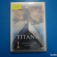 Cine: PELICULA DVD DE TITANIC AÑO 1999 Nº 22. Lote 263947005