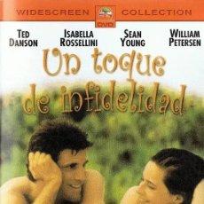 Cinéma: DVD UN TOQUE DE INFIDELIDAD CON TED DANSON, ISABELLA ROSSELLINI, SEAN YOUNG Y WILLIAM PETERSEN. Lote 264278020