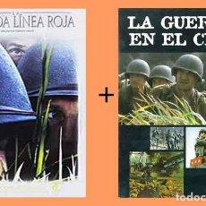 Cine: PELÍCULA EN DVD DE CINE BÉLICO: LA DELGADA LÍNEA ROJA + LA GUERRA EN EL CINE (OCASIÓN). Lote 265412189