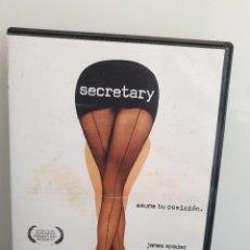 Cinema: SECRETARY. DVD. JAMES SPADER, MAGGIE GYLLENHAAL, JEREMY DAVIES (ENVÍO 2,50€). Lote 266082828