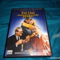 Cinema: VIVE COMO QUIERAS. JAMES STEWART. FRANK CAPRA. DVD. Lote 266213568