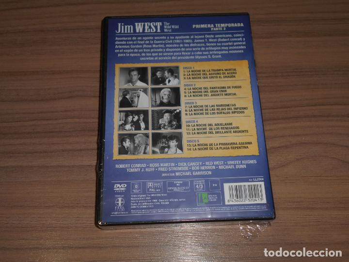 Cine: JIM WEST The WILD WEST Temporada 1 5 DVD 672 Min. NUEVA PRECINTADA - Foto 2 - 266315738