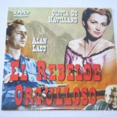 Cine: EL REBELDE ORGULLOSO * FILM DVD CINE AVENTURA DRAMA * FUNDA EXTERIOR PLANA DE PAPEL. Lote 266486538