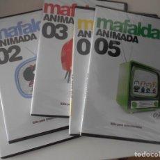 Cine: MAFALDA. MAFALDA ANIMADA. LOTE DE 5 DVD'S. QUINO. SOLO PARA COLECCIONSTAS. 4 DE LOS DVD'S ESTAN NUE. Lote 267383714