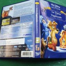 Cine: LA DAMA Y EL VAGABUNDO WALT DISNEY DVD ORIGINAL. Lote 267610509