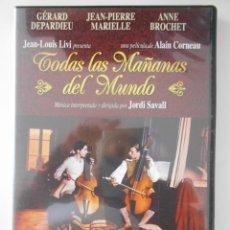 Cinema: TODAS LAS MAÑANAS DEL MUNDO. DVD DE LA PELICULA DE ALAIN CORNEAU. CON GERARD DEPARDIEU, JEAN-PIERRE. Lote 267630669
