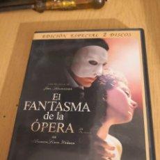 Cinema: DVD EL FANTASMA DE LA ÓPERA ( EDICIÓN ESPECIAL 2 DISCOS). Lote 267707654
