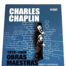 Cine: CHARLES CHAPLIN 1918 - 1956 OBRAS MAESTRAS FIRST NATIONAL (6 DISCOS) DVD DESCATALOGADO. Lote 267843189