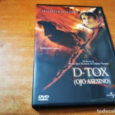 Cine: D-TOX OJO ASESINO DVD 2002 ESPAÑA SYLVESTER STALLONE TOM BERENGER CHARLES DUTTON DINA MEYER RARA. Lote 268440494